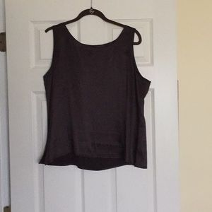 EILEEN FISHER chocolate brown 100% SILK CAMI